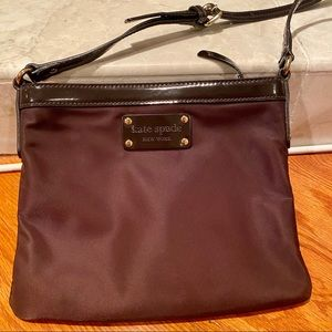 New Kate Spade Brown Nylon Crossbody Handbag